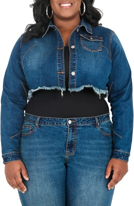 Poetic Justice Kaye Fray Denim Jacket
