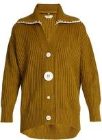 Edun Oversized button-down wool cardigan
