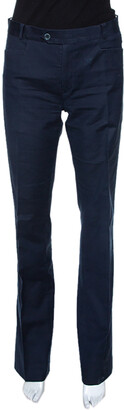 Joseph Navy Blue Stretch Cotton Straight Leg Pants M