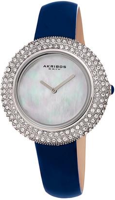 Akribos XXIV Women's Patent Leather Watch