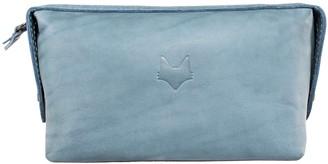 Mr Fox Handmade Blue Leather Toiletry Bag