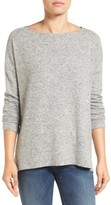 Gibson Women's Cozy Fleece Ballet Neck High/low Pullover