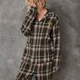 River Island Womens Green Ashish check pajama shirt