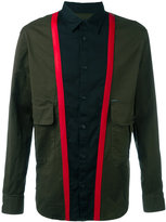 DSQUARED2 block colour panelled shirt - men - Cotton/Polyester/Polyurethane/PVC - 46