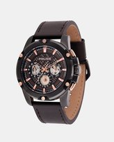 Police Grid Dark Brown 48mm