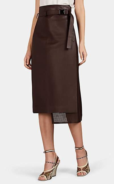 3892e5db90b5 Brown Leather Skirt - ShopStyle