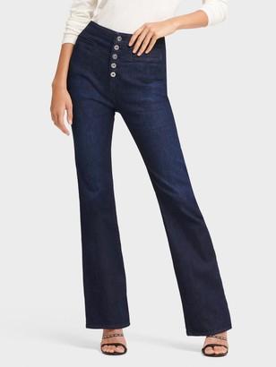 DKNY Women's High-waisted Flare Jean - Indigo - Size 32
