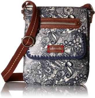 Sakroots Women's Artist Circle Small Flap Messenger Cross Body Handbag