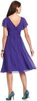 SL Fashions Short-Sleeve Cowl-Neck Dress
