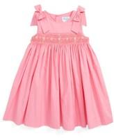 Luli & Me Infant Girl's Fuchsia Smocked Dress