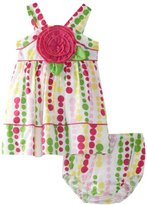Bonnie Baby Girls Infant Dress With P...