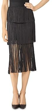 Herve Leger Tiered Fringe Skirt