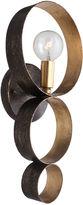 Crystorama Luna 1-Light Sphere Sconce, Bronze