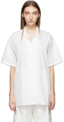 MM6 MAISON MARGIELA White Oversized Short Sleeve Shirt