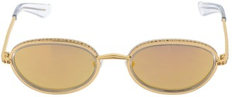 Area Linda Farrow Embellished Sunglasses