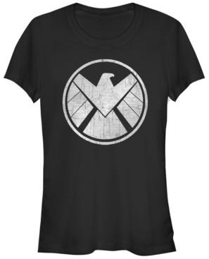 Fifth Sun Marvel Women's Agents of S.h.i.e.l.d. Grungy Logo Vintage-Inspired Short Sleeve Tee Shirt