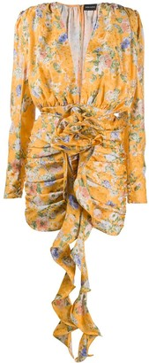 Magda Butrym Floral-Print Silk Dress