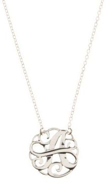 Lord & Taylor Sterling Silver A Initial Pendant Necklace