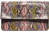 Michael Kors Janey Hand-Painted Python Clutch