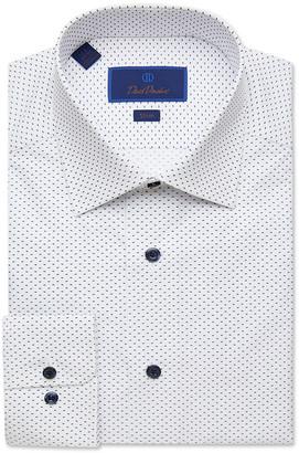 David Donahue Men's Slim-Fit Gingham Check Dress Shirt