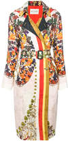 Etro floral-print trench coat