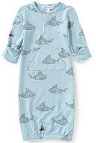 Angel Dear Baby Boys Newborn-3 Months Shark Print Gown