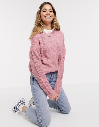 JDY Daisy high neck ladder knit sweater