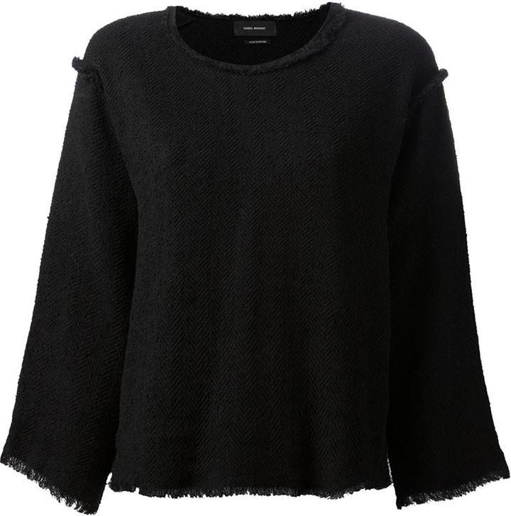Isabel Marant raw trim herringbone sweater