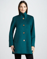 Fleurette Wool Car Coat