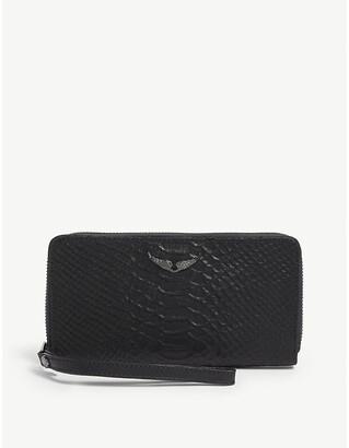 Zadig & Voltaire Campagnon Savage leather wallet