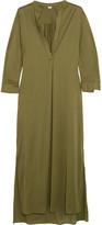 Eres Zephyr Odette Cotton-jersey Kaftan - Army green