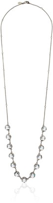 Sorrelli Lisa Oswald Collection Crystal Rain Long Strand Necklace 38""