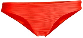Mara Hoffman Kay Ruched Low-Rise Bikini Bottoms