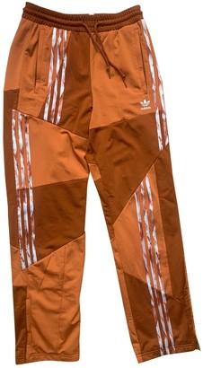 adidas Orange Polyester Trousers