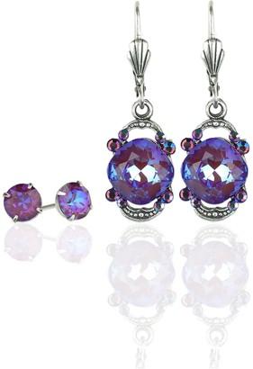 Swarovski Anne Koplik Crystal Drop Earrings andStuds Set