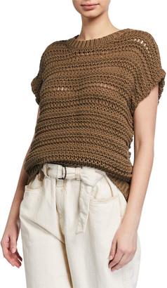 Brunello Cucinelli Netted Cotton Crewneck Sweater