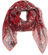 Alexander McQueen Women's Stud Print Silk Scarf