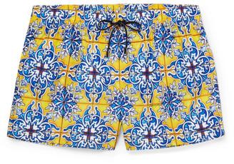 Dolce & Gabbana Short-Length Printed Swim Shorts