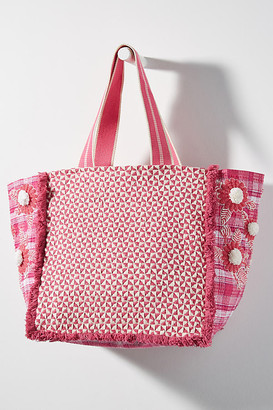 Anthropologie Arabella Tote Bag By in Blue Size ALL