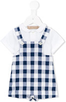La Stupenderia checked dungarees - kids - Cotton - 9 mth