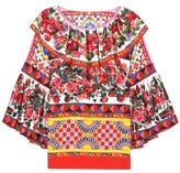 Dolce & Gabbana Printed silk blouse