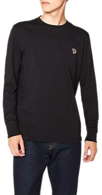 Paul Smith Long Sleeve Zebra Logo T-Shirt