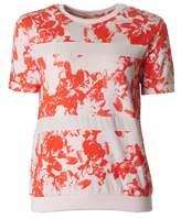 BOSS ORANGE Tabloom Floral Short Sleeved Top
