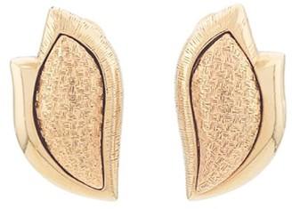 Susan Caplan Vintage 1970s Vintage Monet Textured Clip-on Earrings