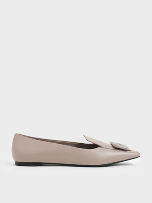 Charles & Keith Oversized Buckle Loafers