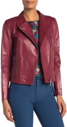 Lafayette 148 New York Mary Kate Genuine Leather Jacket