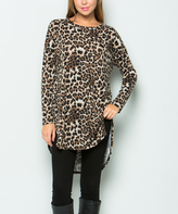 Sweet Pea Black & Brown Leopard Hi-Low Tunic