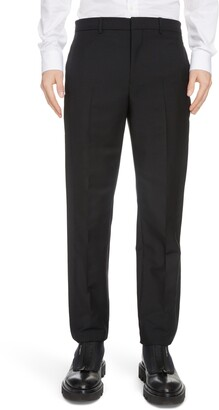 Givenchy Double Tuxedo Band Mohair & Wool Dress Pants