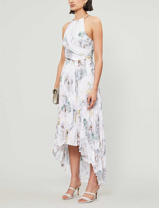 Ted Baker Daniiey Woodland-print chiffon maxi dress