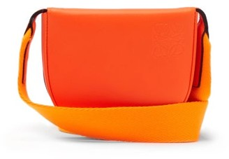 Loewe Paula's Ibiza - Heel Small Leather Pouch - Orange